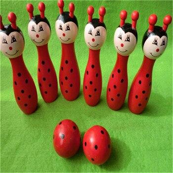 Wooden cartoon children wooden Bowling Ball sports series toys development intelligence A# dropshipping