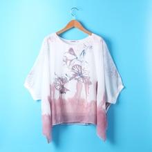 lace Short Sleeve Women Clothing Summer Female Plus Size Blusas Top Floral blue pink xxl chiffon blouse