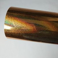 2rolls Lot Holographic Stamping Foil For Paper Or Plastic Gold Color 16cm X 120m Hot