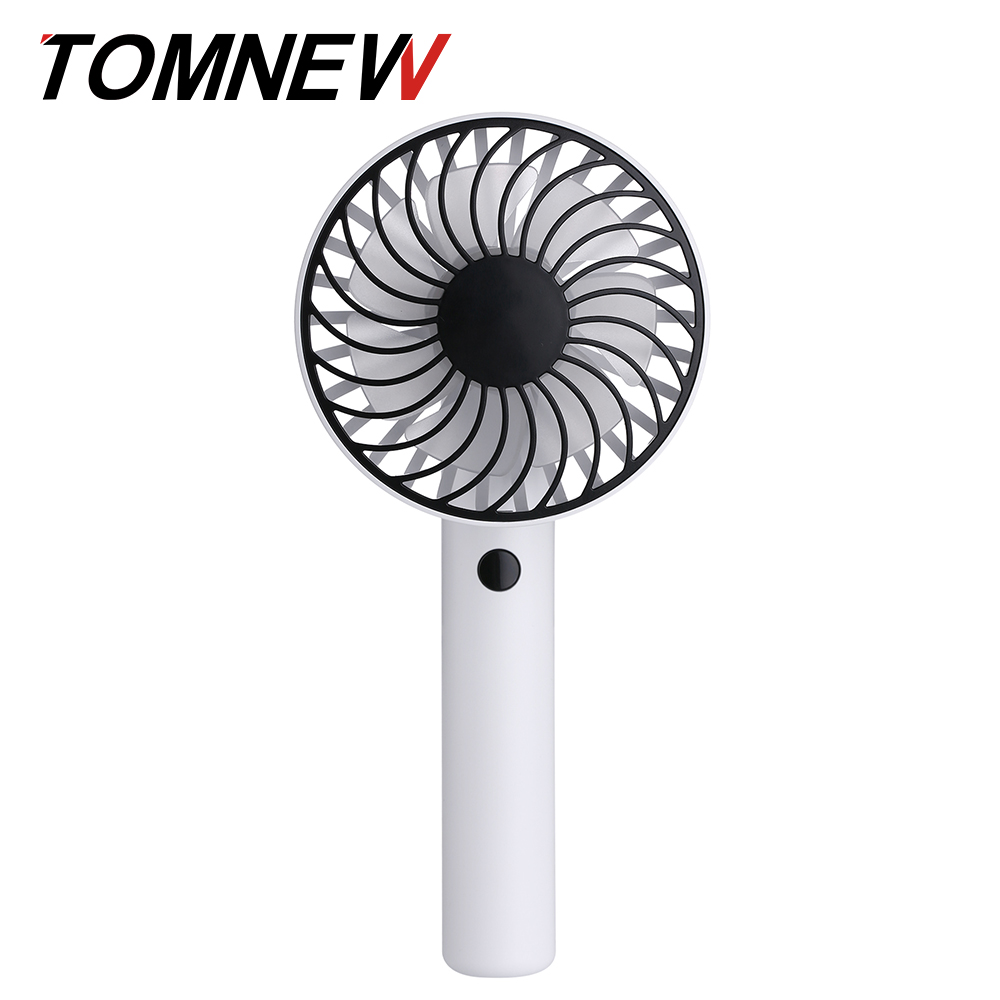 TOMNEW Handy Rotating Fan Mini USB Rechargeable 1200mAh Portable Handheld Standing Electric Cooling Fan 2018 New new mini cooling rechargeable fan