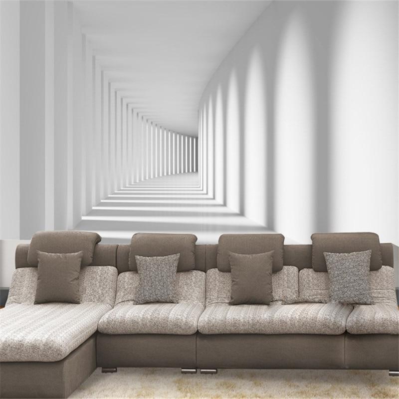 Aliexpress Com Buy Custom White Passage Corridor Photo Wallpaper