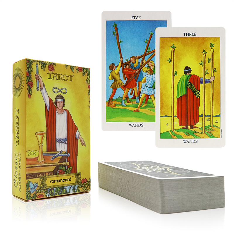 Tarot rider tarjetas con hermosa bolsa para la adivinación uso personal tarot cubierta versión completa en inglés