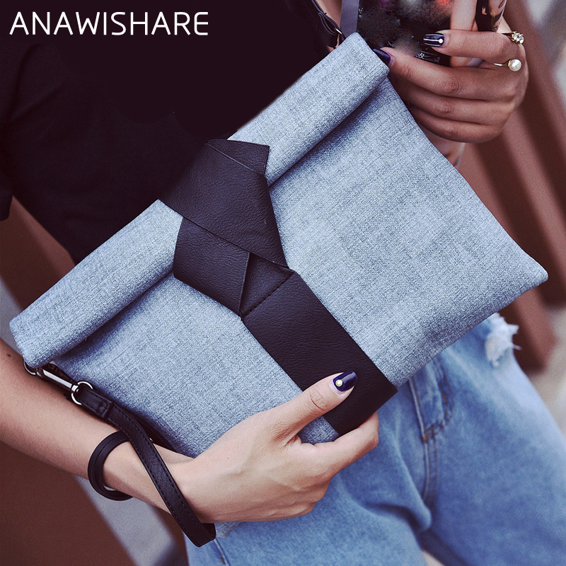 ANAWISHARE Designer Handbags Clutches-Bags Envelope Crossbody-Bag Evening Women Ladies