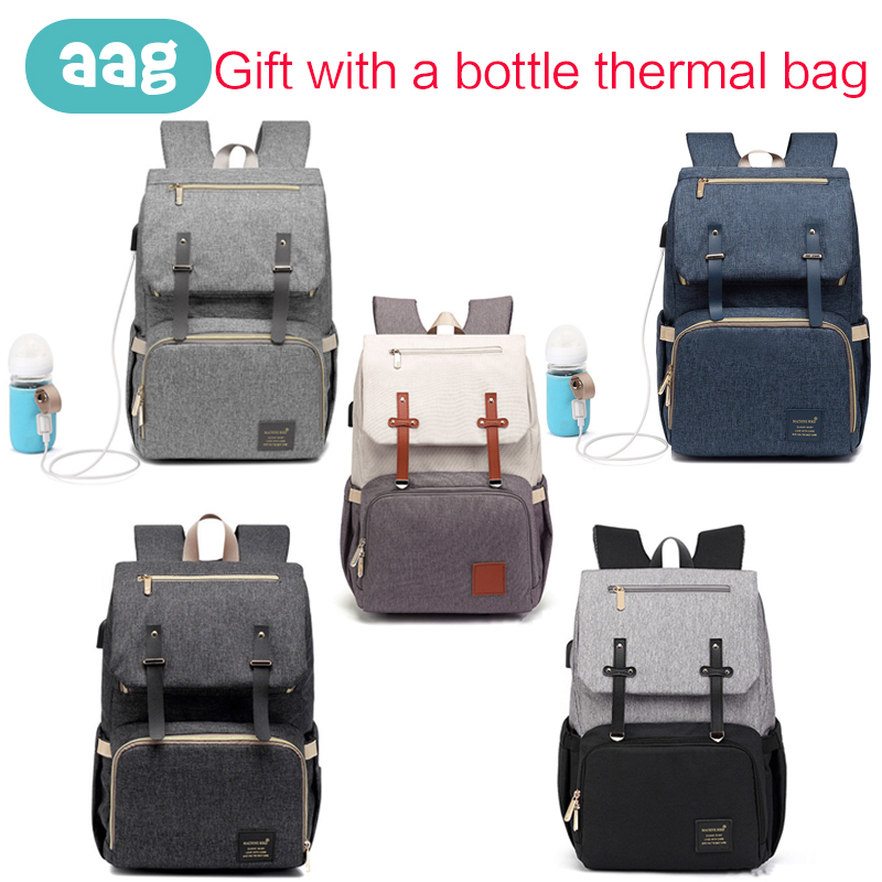 AAG Multifunction Mummy Bag Diaper Maternity Nappy Women Travel Backpack Gift With Thermal Bag Large Capacity
