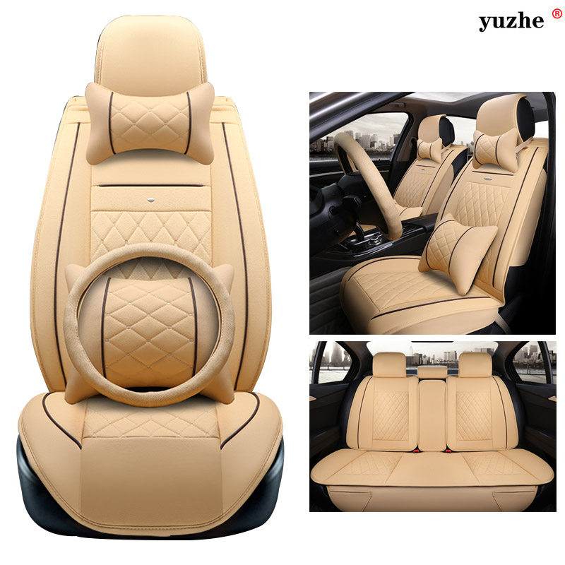 Yuzhe leather car seat cover For Skoda Octavia 2 a7 a5 Fabia Superb Rapid Yeti Spaceback Joyste car accessories styling cushion car styling dog decoration for skoda octavia 2 a7 a5 rapid fabia superb yeti mini cooper r56 r50 r53 f56 f55 r60 r57 accessories