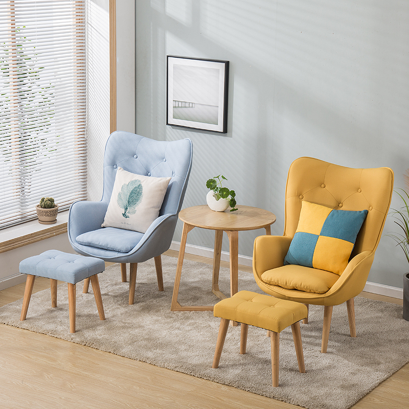 US $170.42 17% OFF Nordic single living room sofa balcony apartment mini  chair modern minimalist sofa personality leisure bedroom room chair-in  Living ...