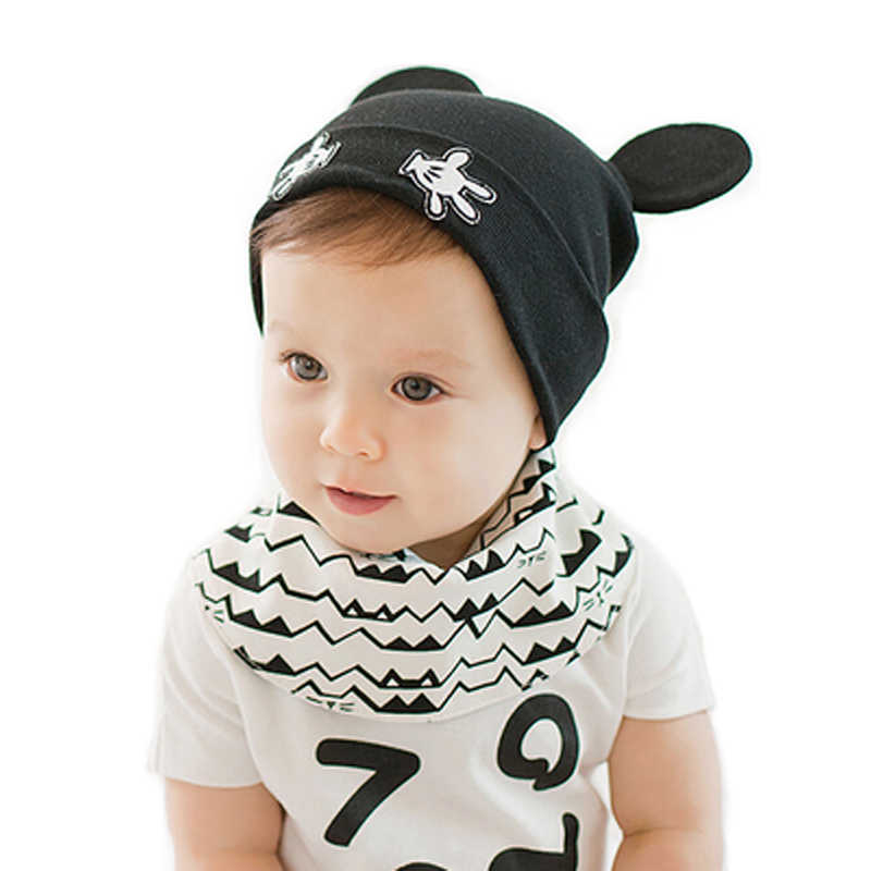2018 Новое поступление Детские skullies 1-24months Детские шапочки Для  мальчиков и девочек ушами милые 8ae8c3c24595f