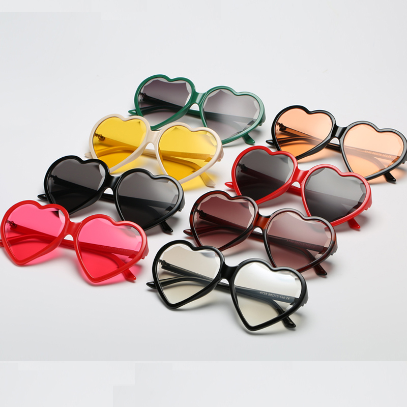 0958374180e943 Brand Heart Shaped Mirror Sunglasses Women Love Heart Shapes Sun Glasses  Black Pink Shads Sunglasses lunette de soleil homme-in Sunglasses from  Apparel ...