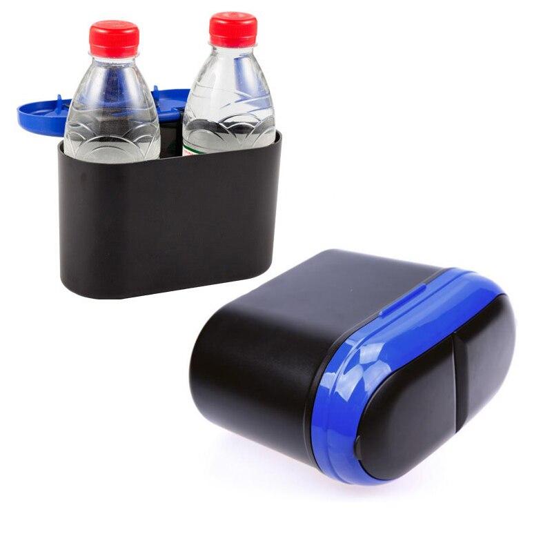 Mini Auto Car Trash Bin Garbage Box Seat Back Storage Litter Container Drink Holder Box  ...