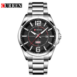 CURREN Watches Men Top Brand Luxury Business Wristwatch Display Date Week Quartz Male Clock Steel Band Waterproof Reloj Hombre