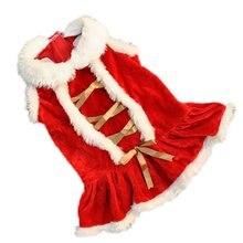 Рождественское платье с изображением собаки зимняя одежда для собак для маленьких собак, одежда Рождественский Костюм Собаки Одежда для Йорка чихуахуа кошки Одежда для питомцев, платья