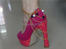 Free Shipping F22 Fashion Chain Ankle Chain Jewelry,ankle jewelry simulated-pearl accessories