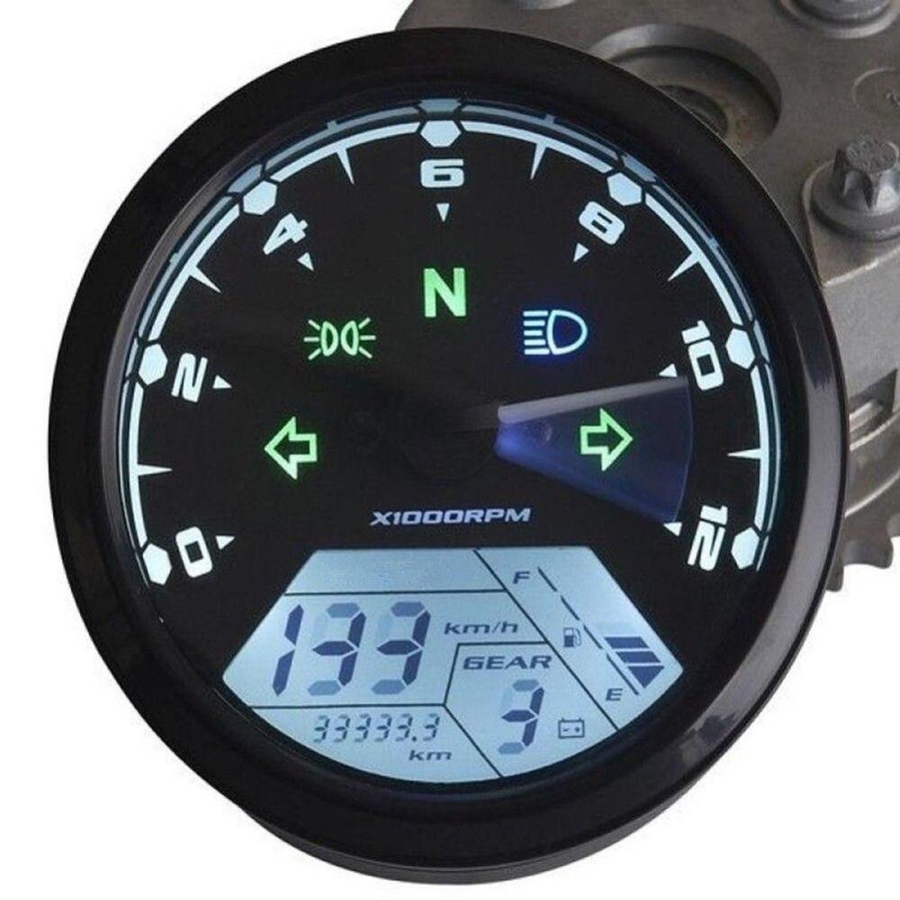 12000 Rmp Kmh  Mph Lcd Digital Odometer Speedometer