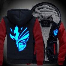 BLEACH Новый зимние пальто с капюшоном куртки свет Аниме Капюшоном Молния мужчины толщиной кардиган Капитан косплей аниме
