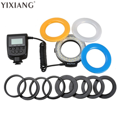 YIXIANG 48 Macro LED Ring Flash RF550D for Nikon Canon DSLR Camera