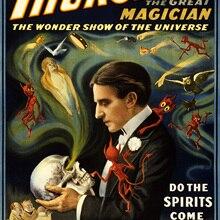 Cartel clásico de circo de Thurston, el Gran Mago, pinturas clásicas en lienzo, pósteres de pared, pegatinas para decoración del hogar, regalo