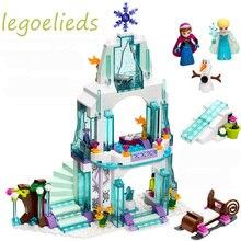 316 шт. принцессы Эльзы ледяной замок 41062 Принцесса Анна Олаф замок игрушки строительных блоков Совместимость с Лепин друзей