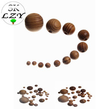 Natural Wood Grain Wooden Beads Spacer Ball DIY Loose Production Handmade Jewelry Bracelet Accessories Wholesale