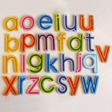 Cute 26 Pcs Teaching Alphabets Fridge Magnet Magnetic Wall Letters Stickers Kids Child Classic Early Learning Educational Toys(China)