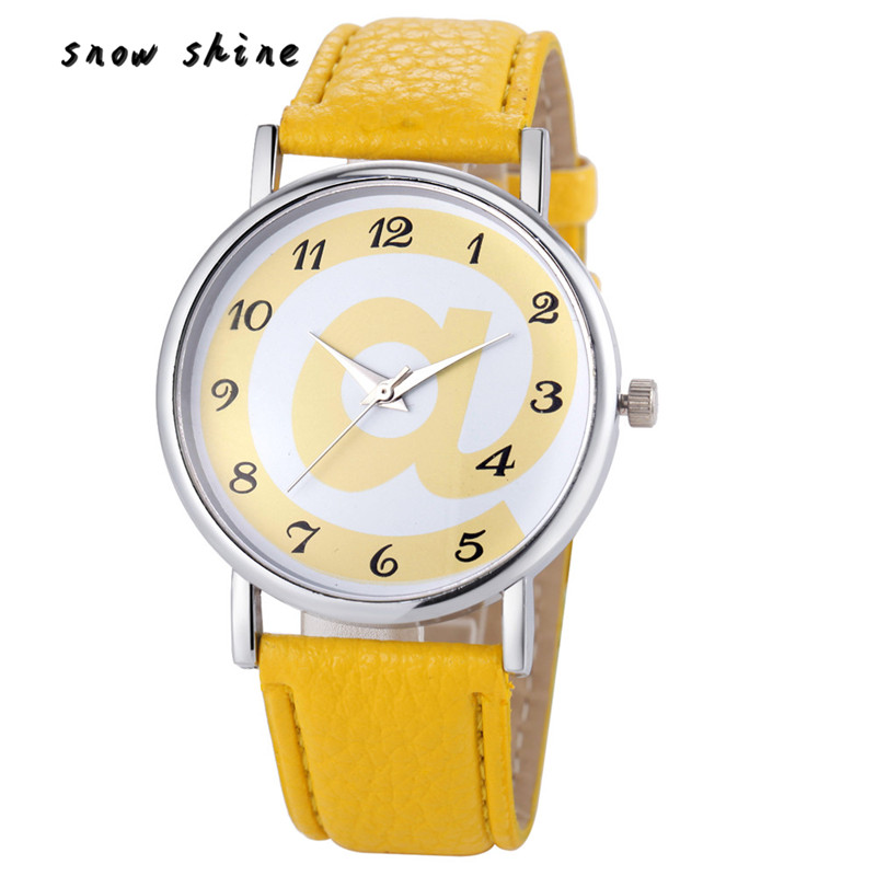 snowshine 10 Fashion Women Analog Leather Quartz Wrist font b Watch b font font b Watches