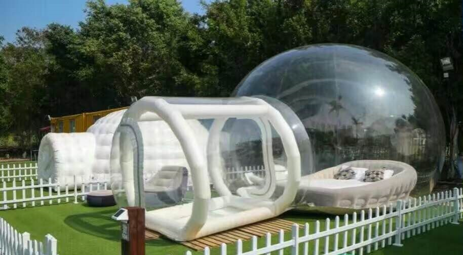 0.8MM PVC Inflatable Bubble House/Inflatable Transparent Tent For People Have A Camping In Outdoor  big inflatable lawn tent transparent pvc inflatable bubble tent for hotel use