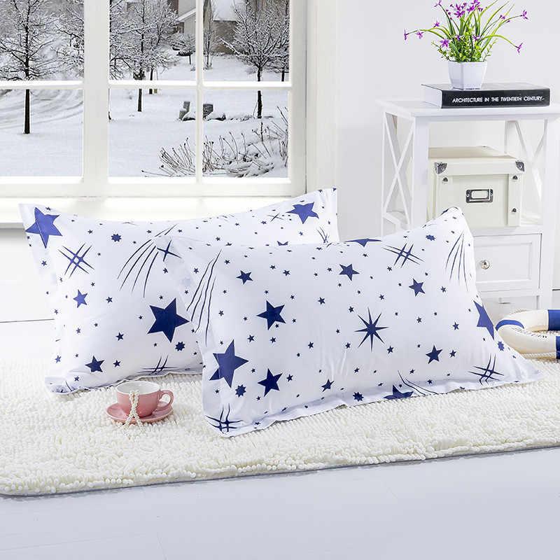 1 шт. белый цвет Синие Звезды наволочки для спальня применение 48 см * 74 Наволочки Чехол детей взрослых XF340-22
