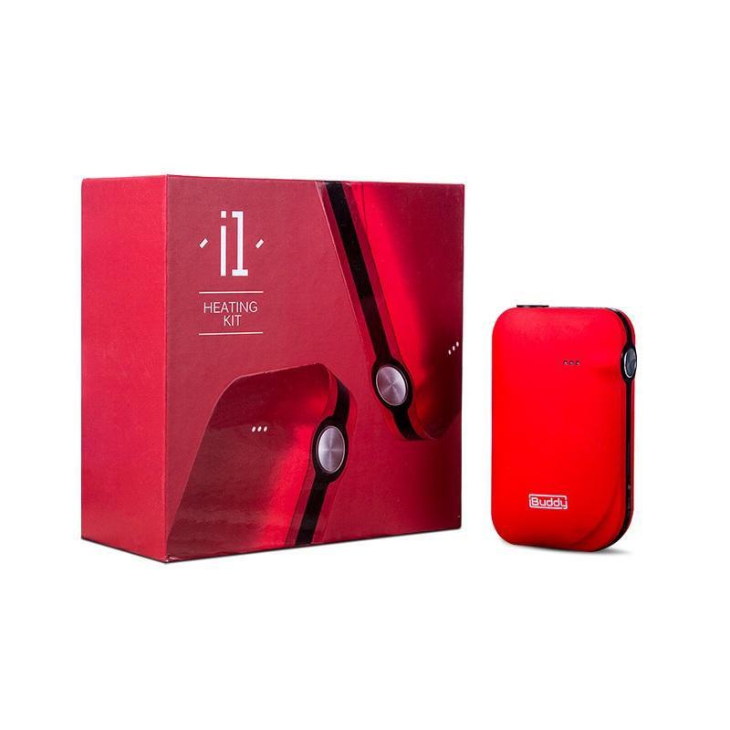 Original iBuddy i1 Kit de chauffage chaleur pas brûler 1800 mAh batterie E Cigarette sèche à base de plantes Vape vaporisateur innovant Pin-style boîte Mod