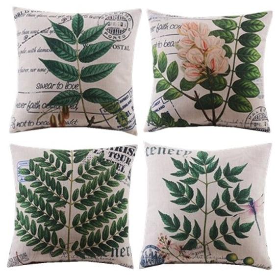 4db / új design / növények / levél // virág / dekoratív - Lakástextil