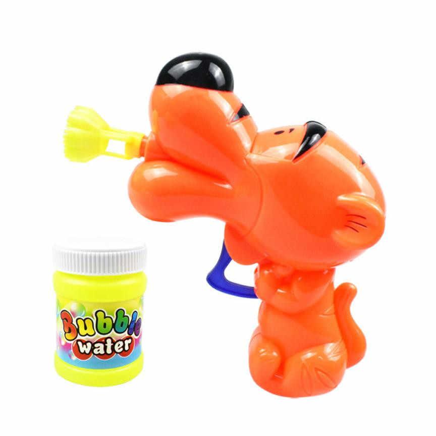 Детское мультяшное мыло в форме животного пистолет для мыльных пузырей забавная мультяшная животная Свадебная пузырьковая игрушка воздуходувка детская пузырчатая машина мыльная жидкость с пузырьками в комплекте