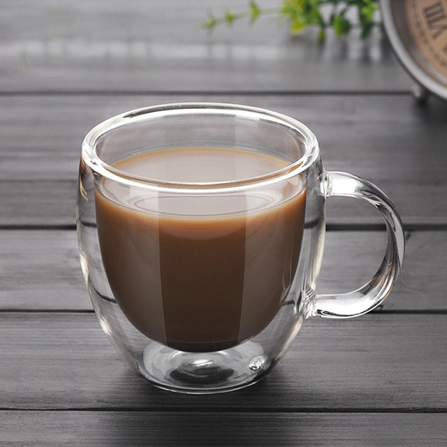 150ml Glass Coffee Mugs With The Handle Mugs Drinking Insulation
