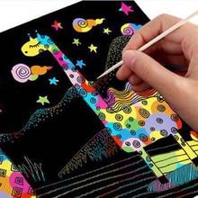10 листов магия нуля художественная роспись Бумага с рисунок палку детские игрушки черный 26 см X 19 см экологически чистые без запаха