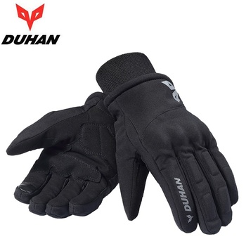 2018 Winter New DUHAN Waterproof Motorcycle Gloves Windproof Warm Motorbike Glove Wear resistant Non-slip black size M L XL XXL
