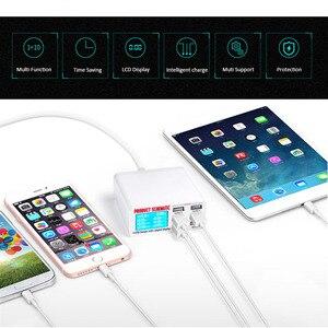 Image 5 - Carregador usb portátil com 6 entradas usb, entrada rápida, carregador rápido, para iphone e ipad samsung tablet