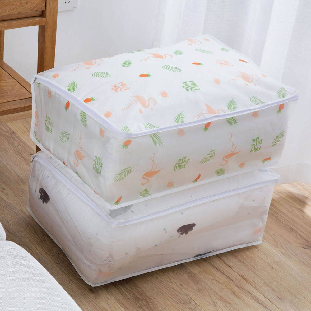 OTHERHOUSE Clothes Blanket Storage Bag Wardrobe Closet Organizer Box Clothing Quilt Pillow Storage Bags Underbed Save Space