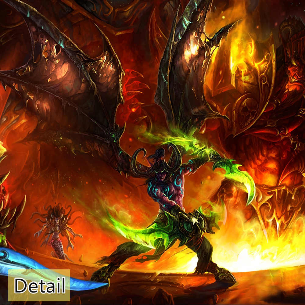 1 Piece Games Art Print Wow World Of Warcraft Poster Hd Wall