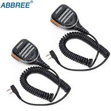 2 個 Abbree AR 780 2 ピン PTT リモート防水スピーカーマイクラジオケンウッド TYT Baofeng トランシーバー TH UV8000D MD 380 ラジオ