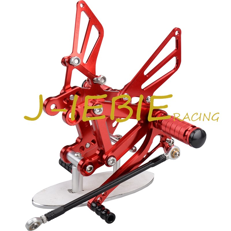 CNC Racing Rearset Adjustable Rear Sets Foot pegs For Kawasaki NINJA ZX6R 1998-2002 ZX9R 1999-2003 ZZR600 2005-2008 RED motorcycle handlebars clip on for kawasaki zx6r 600cc zx9r 900cc 1998 2002 page 2