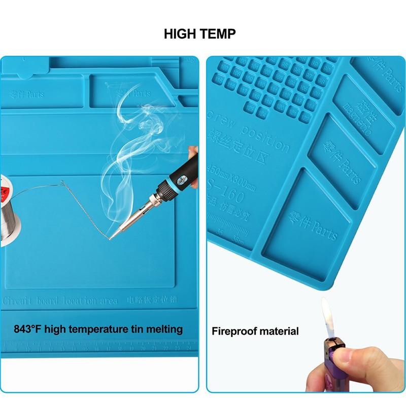 ESD Heat Insulation Working mat Soldering Station Iron Phone Computer Repair Mat Magnetic Heat-resistant BGA  Insulator Platform 2