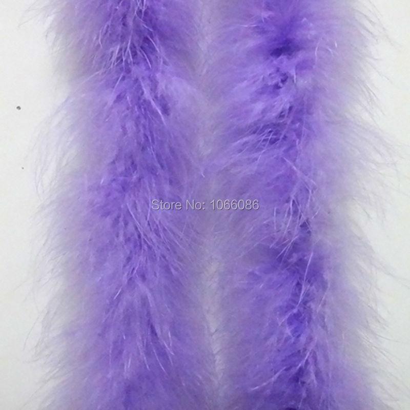 """5 Stk / parti 200 cm (79 """") Lavendel / Ljuslila lila Kycklingfjäderremsa Bröllop Marabou Fjäder Boa Turkiet Fjäder Boa"""