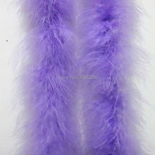 "5Pcs/lot 200cm(79"") Lavender / Light Purple lilac Chicken Feather Strip Wedding Marabou Feather Boa Turkey Feather Boa"