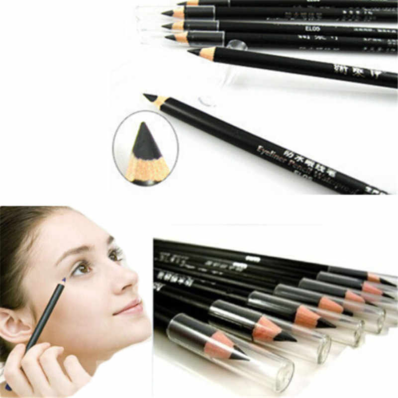 2018 High Quality 2PCS/SET Black Waterproof Cosmetic Makeup Eyeliner Pencil Liner Combination Hot Sale