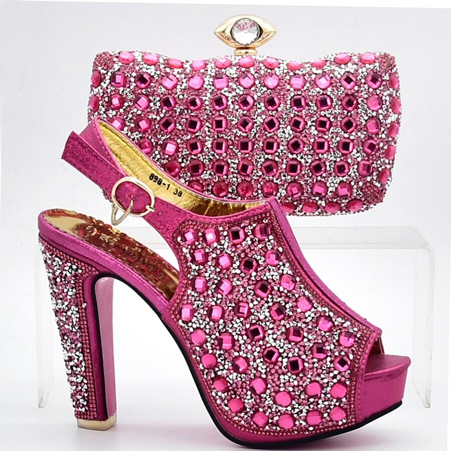 Ensemble Italien Avec Cristal Qualité Date Assortir Belle Africains Grand 1 Haute À Et Fuchsia 4 3 Style Sac Chaussures 2 xwqFAZP