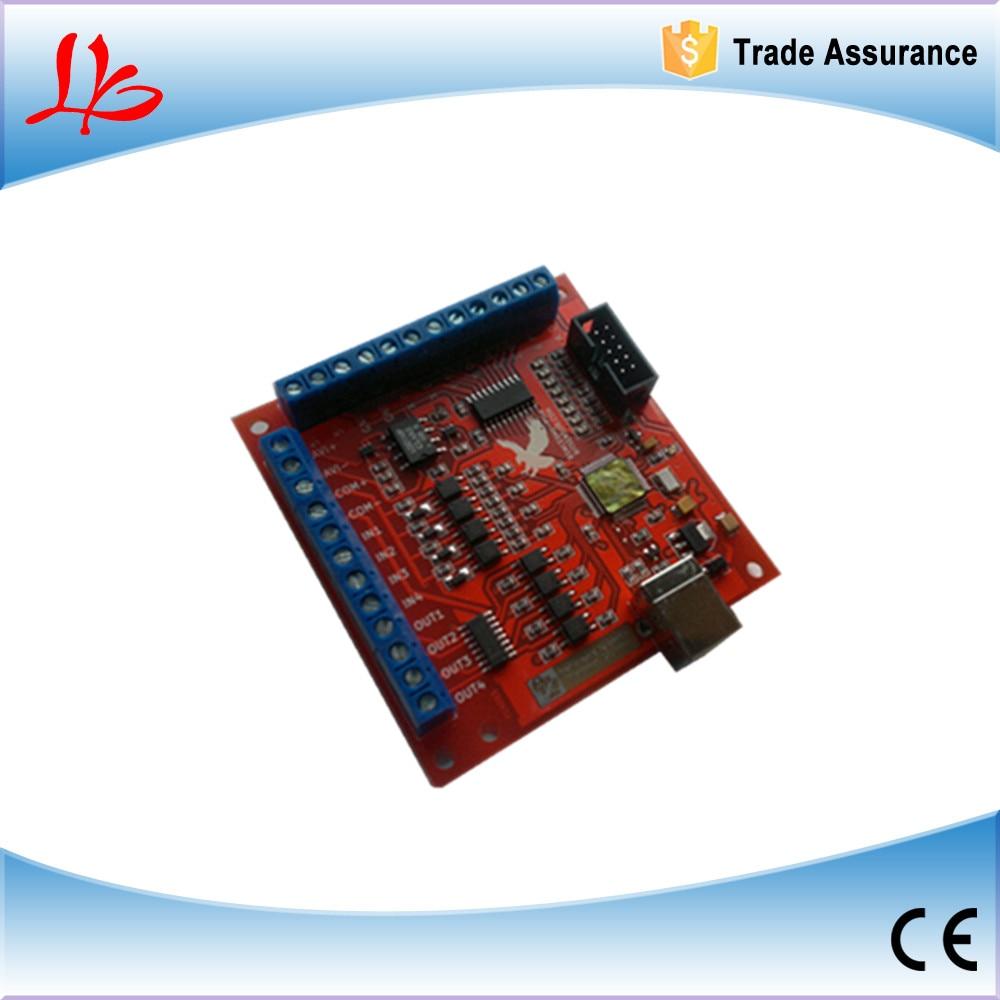 100KHz mach3 usb 4 Axis Stepper motor controller card USB CNC motion Controller card cnc mach3 usb 4 axis kit 4 axis driver 2dm542 mach3 4 axis usb cnc stepper motor controller card 100khz