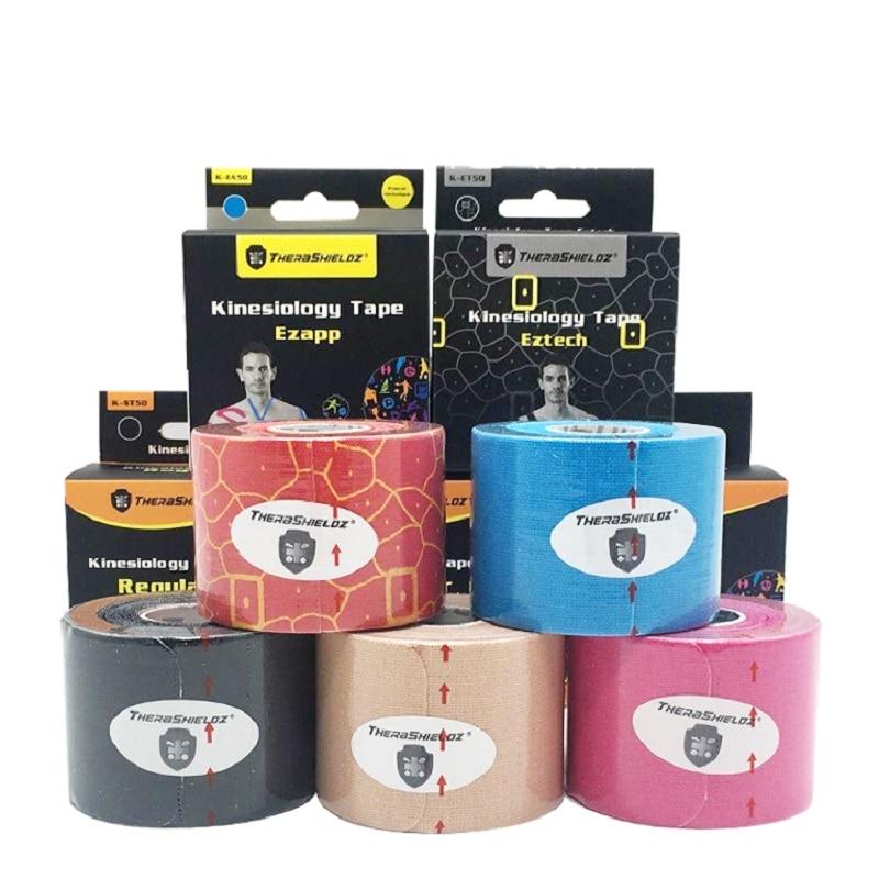 5 Cm*5 M Sports Tape Vendas Adhesivas Elastic Bandage Kinesiology Sport Tape Bandagem Elastica Tapes Adhesive Pre-cut Sport Tape