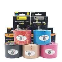 5 cm * 5 m Sport band vendas adhesivas elastische bandage kinesiologie sport band bandagem elastica Bänder Klebstoff Sport band