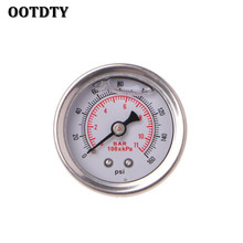 цена на OOTDTY Fuel Pressure Regulator Gauge 0-160 Psi / Bar Liquid Fill Chrome Fuel Oil Gauge