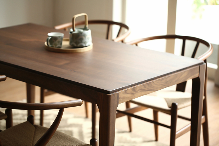 Nordic wood ash solid wood dining table dining table IKEA coffee ...