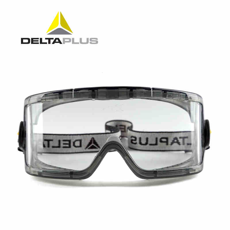 Deltaplus Safety Glass 101104 Transparent Lens Anti-scratch/ Dustproof/ Anti-fog/ Anti-shock Protective Goggles