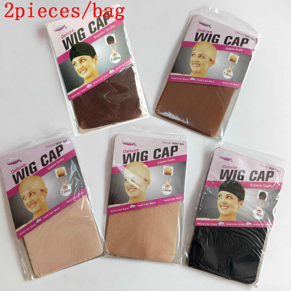 20pieces(10bags) free shipping wig caps for making Unisex Nylon Bald Hair nets Stocking 5 colors
