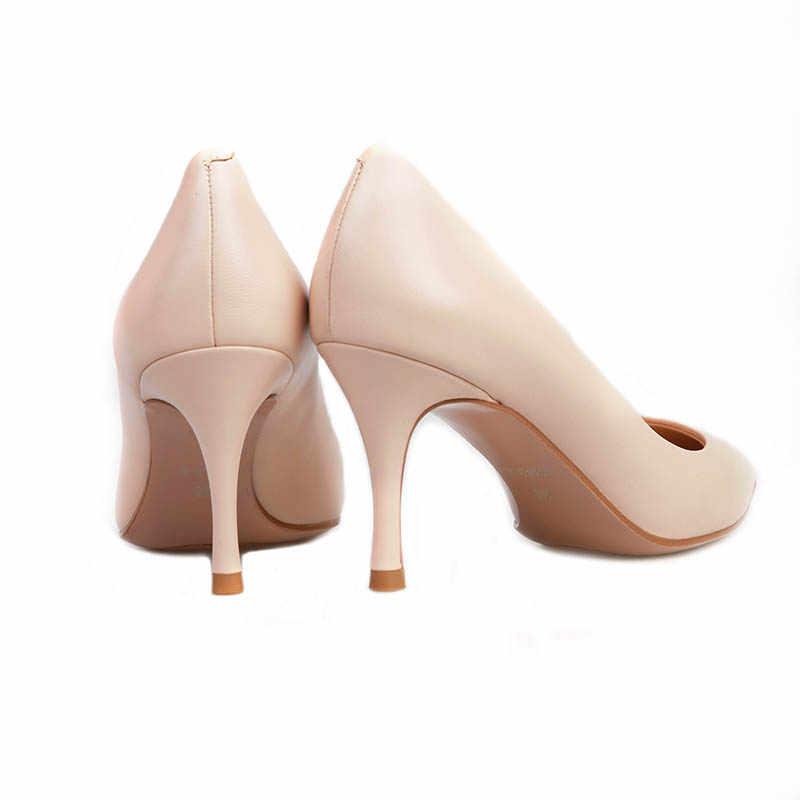 2019 new スーパーハイヒールの女性の感浅いヨーロッパサイズ 34-39.5 指摘女性の靴ピンヒールファッション革